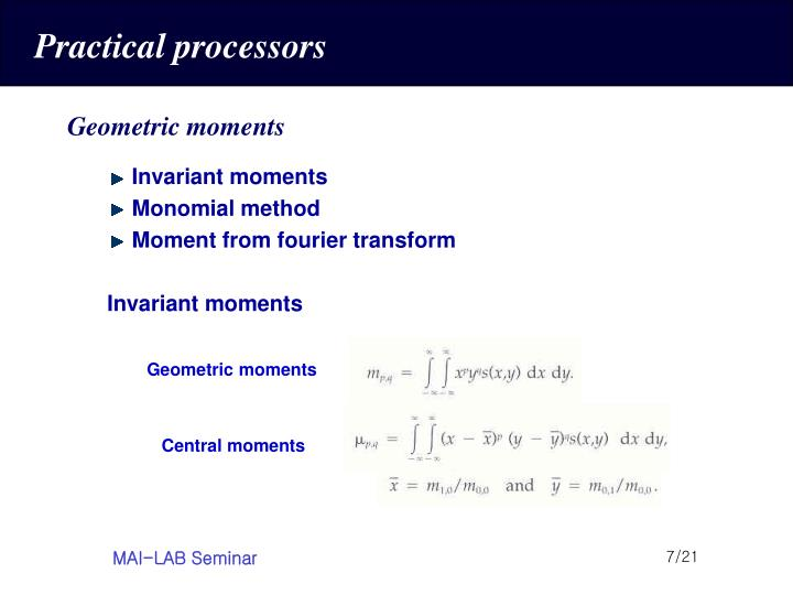 Practical processors