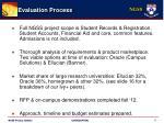 evaluation process