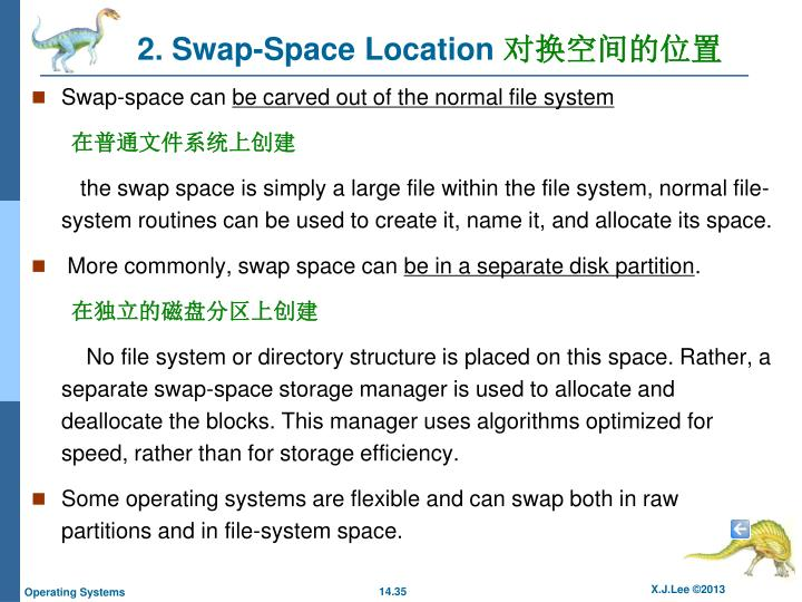 2. Swap-Space Location
