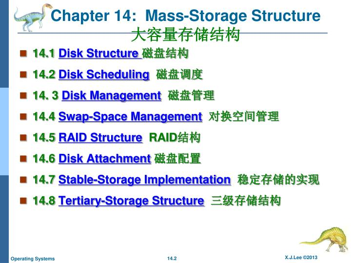 Chapter 14 mass storage structure1