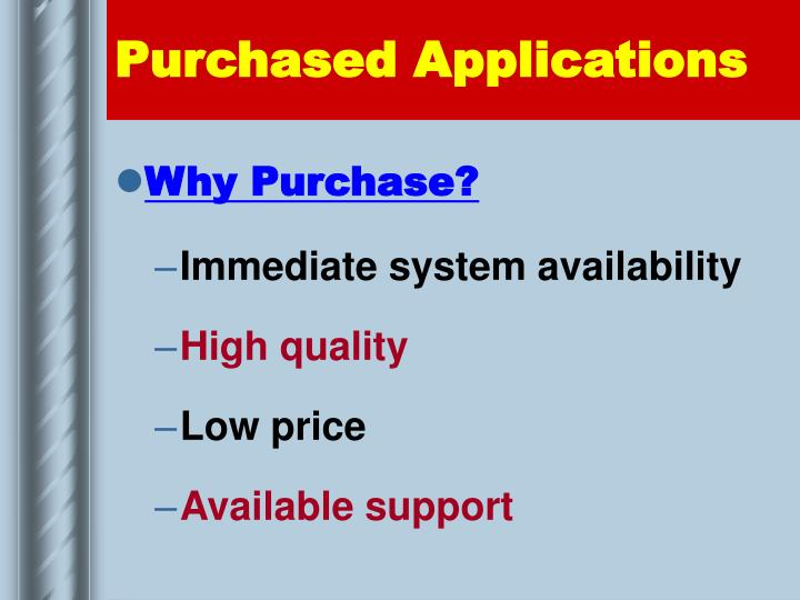 Purchased Applications