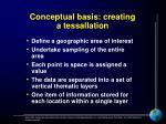 conceptual basis creating a tessallation