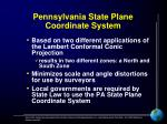 pennsylvania state plane coordinate system