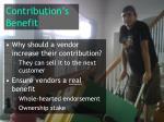 contribution s benefit