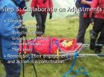 step 3 collaborate on adjustments