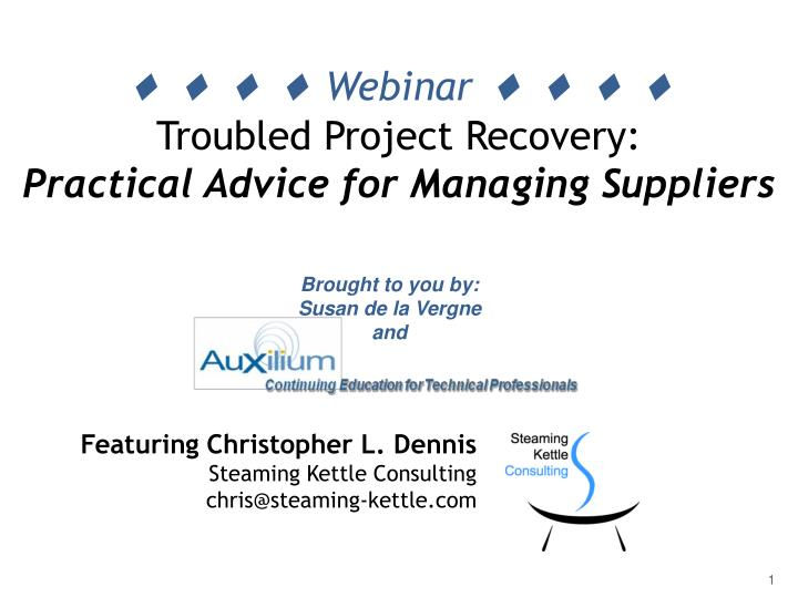 webinar troubled project recovery practical advice for managing suppliers