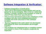 software integration verification