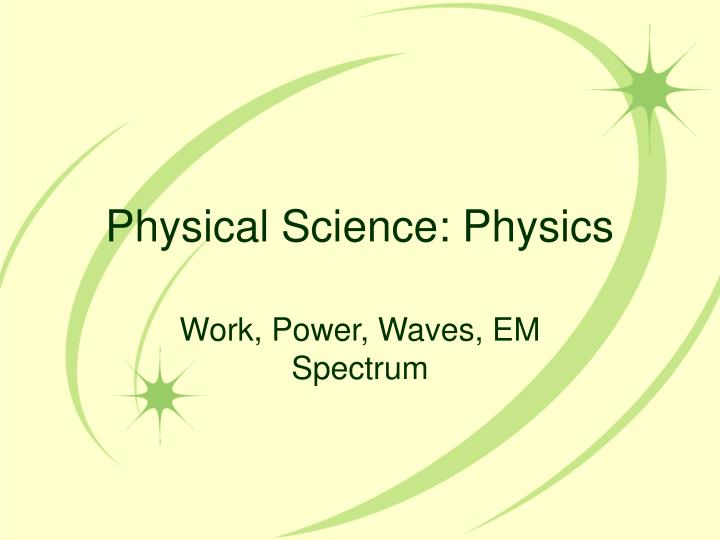 physical science physics n.