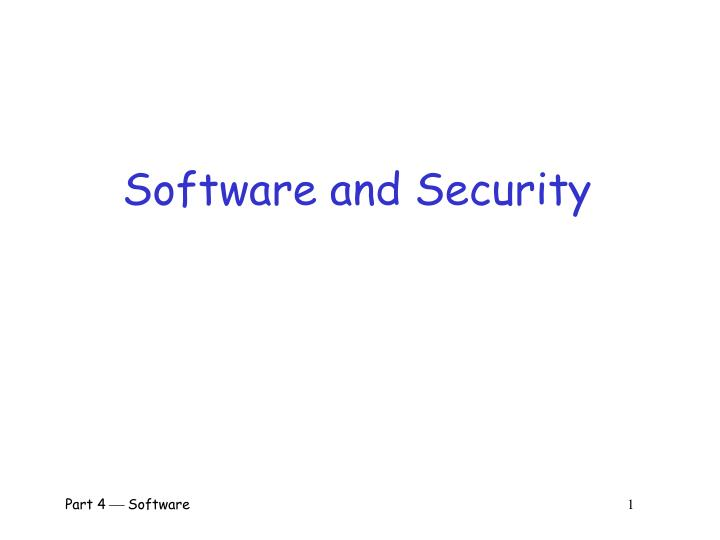 software and security n.