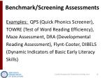 benchmark screening assessments1