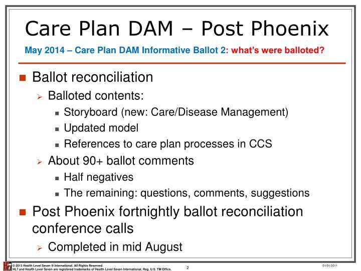 Care plan dam post phoenix
