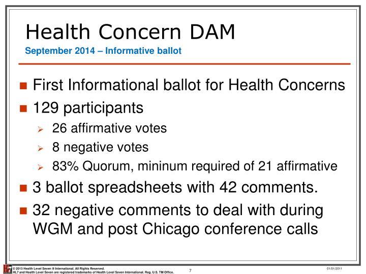 Health Concern DAM