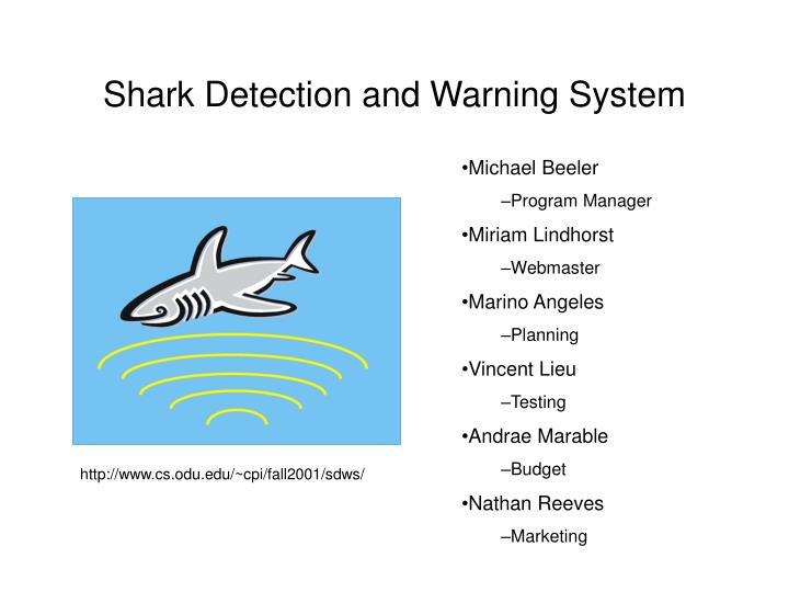 shark detection and warning system n.