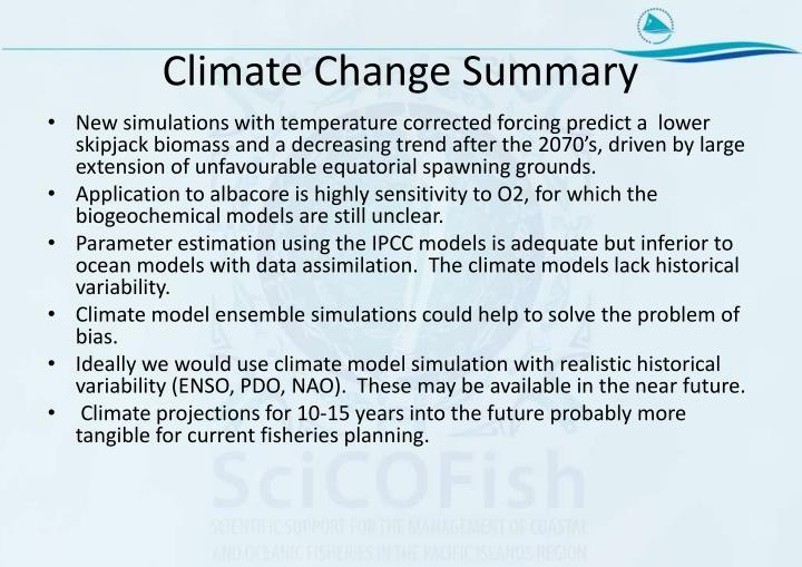 Climate Change Summary