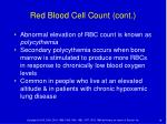 red blood cell count cont