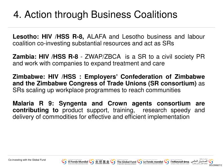 4. Action through Business Coalitions