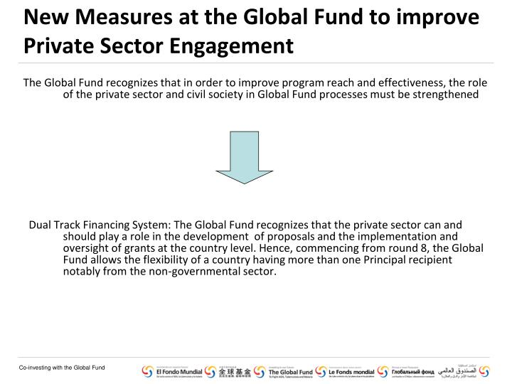 New Measures at the Global Fund to improve Private Sector Engagement