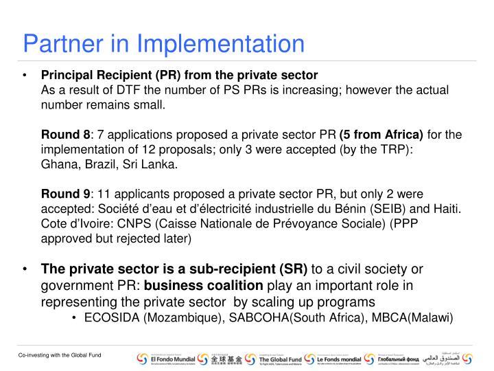 Partner in Implementation