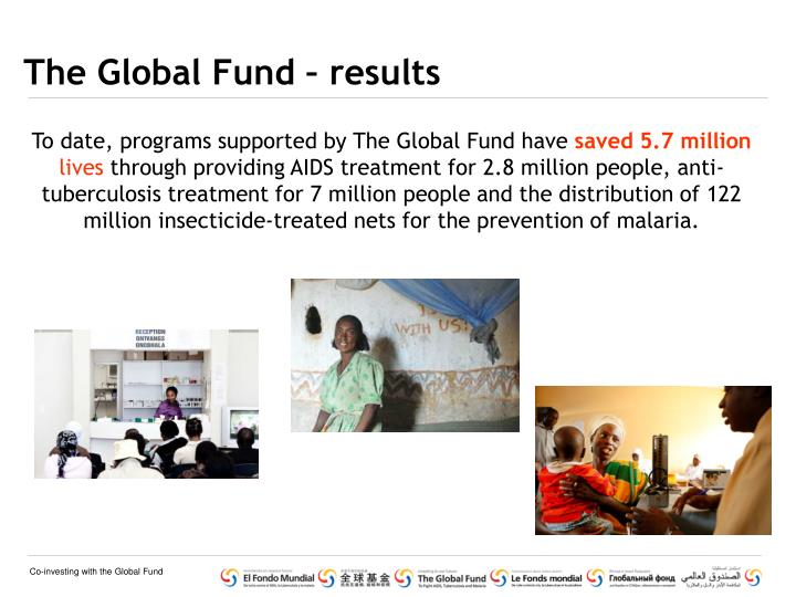 The global fund results