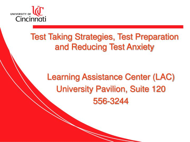 test taking strategies test preparation and reducing test anxiety n.