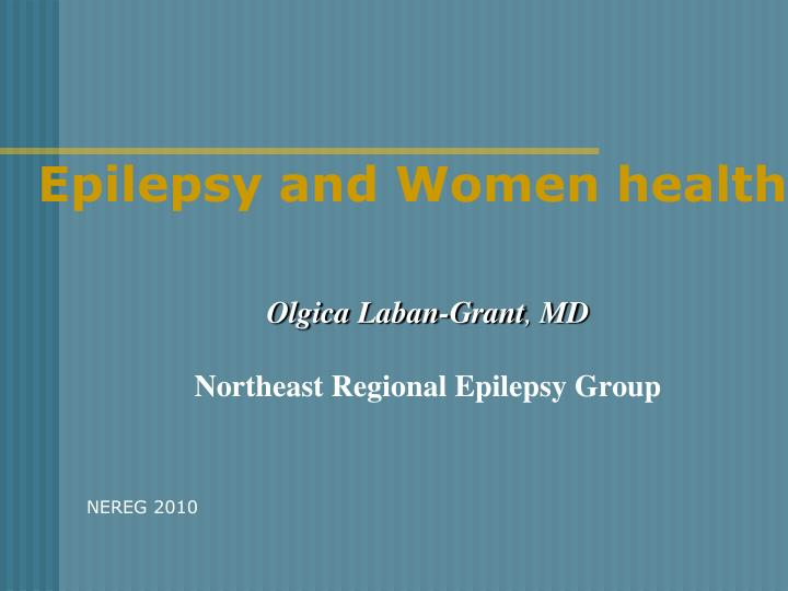 epilepsy and women health n.
