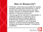 was ist biosecurity