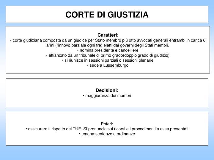 CORTE DI GIUSTIZIA
