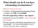 what should you do if you have extenuating circumstances
