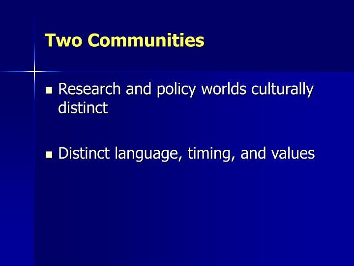 Two Communities