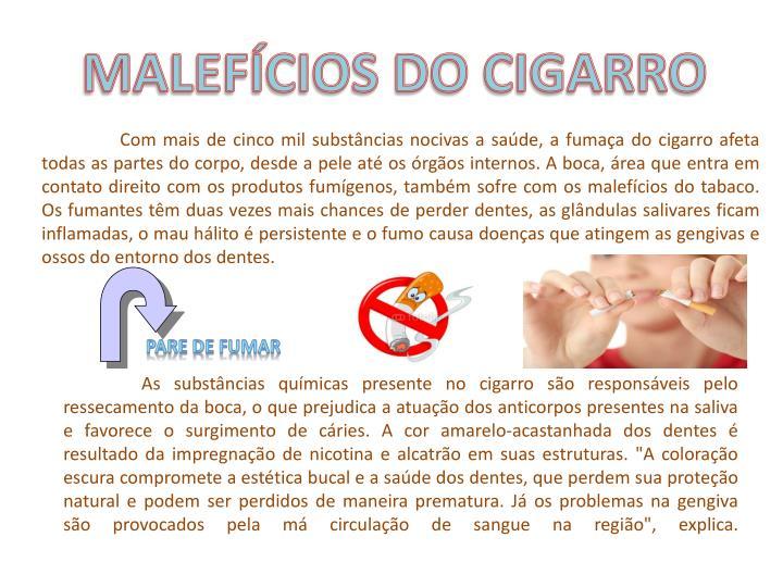 MALEFÍCIOS DO CIGARRO