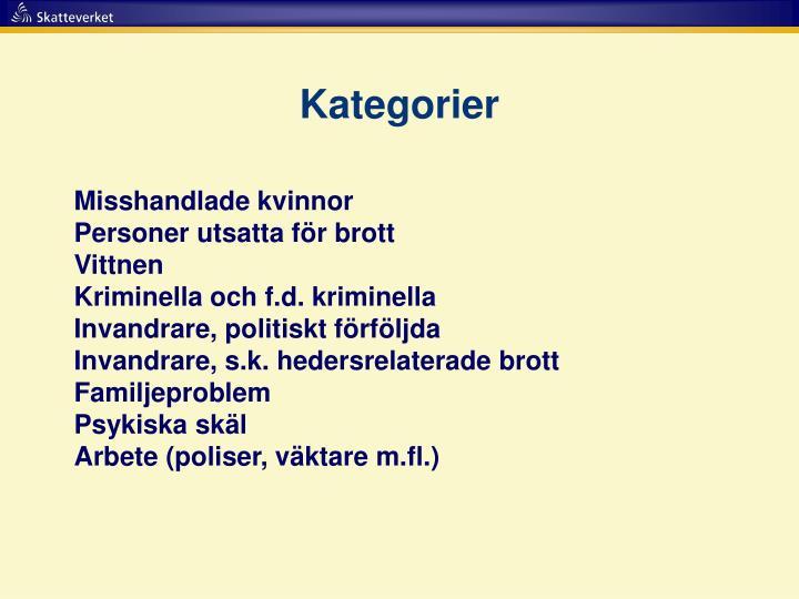 Kategorier