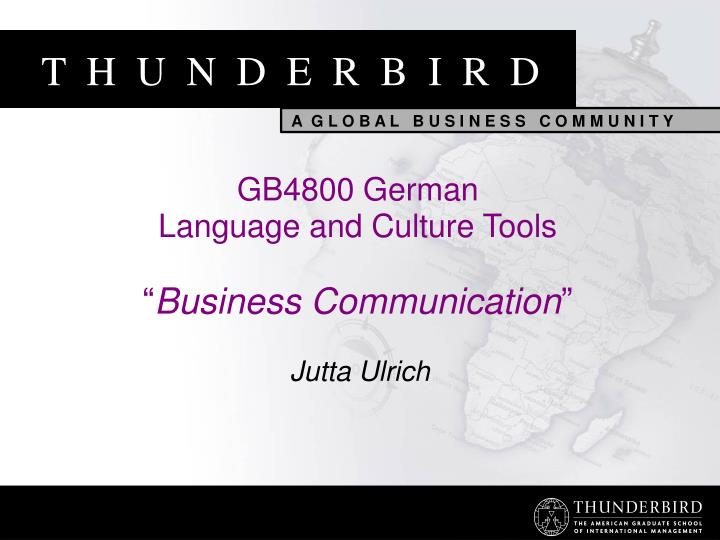 gb4800 german language and culture tools business communication n.