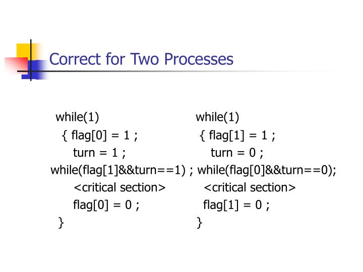Correct for Two Processes