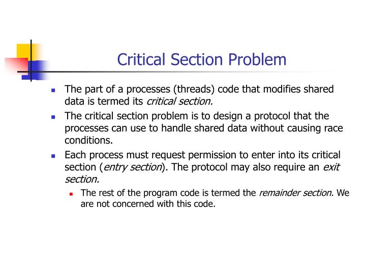Critical Section Problem