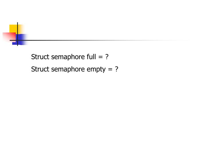 Struct semaphore full = ?