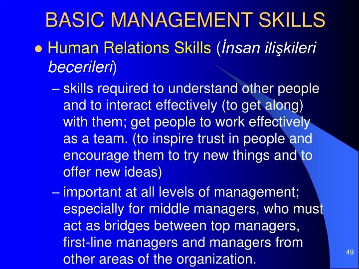 BASIC MANAGEMENT SKILLS