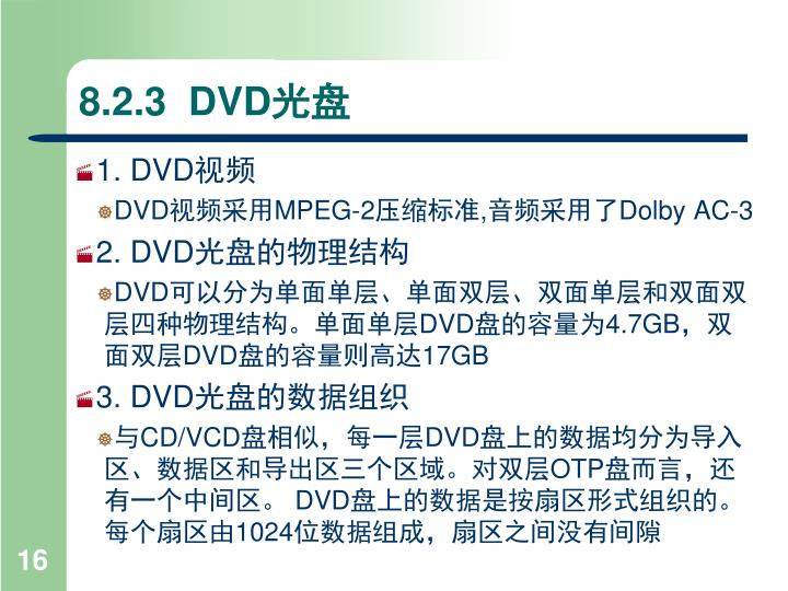 8.2.3  DVD