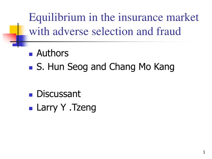 equilibrium competitive insurance markets essay economics Insurance market price competition expected profit competitive equilibrium insurance contract these keywords were added by machine and not by the authors this process is experimental and the keywords may be updated as the learning algorithm improves.