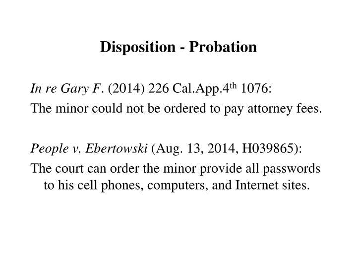 Disposition - Probation