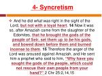 4 syncretism