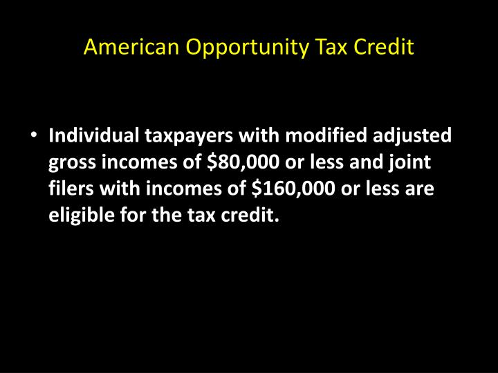 American Opportunity Tax Credit