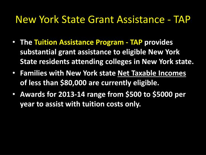 New York State Grant Assistance - TAP