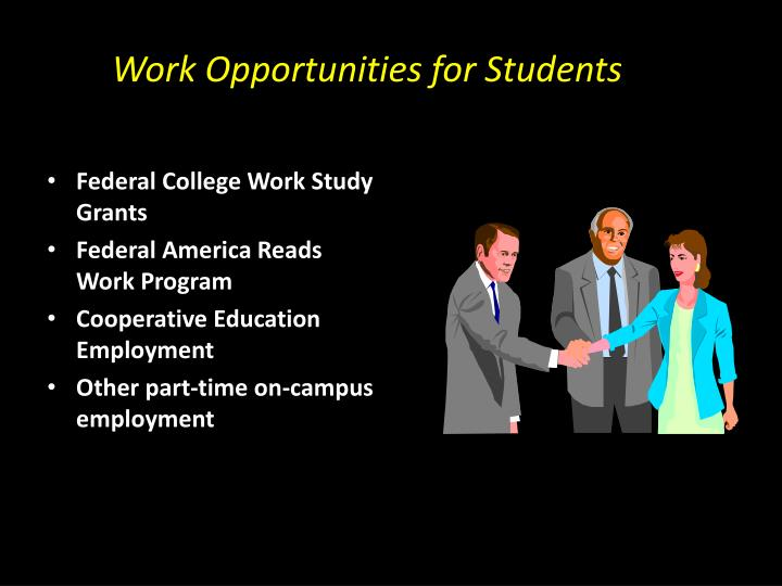 Work Opportunities for Students