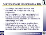 analyzing change with longitudinal data