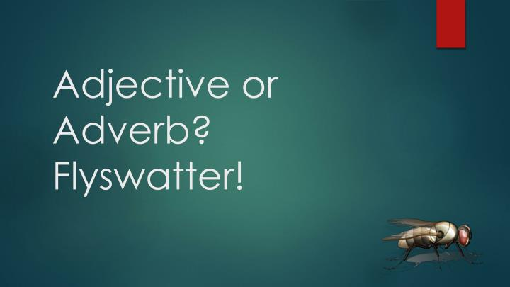 adjective or adverb flyswatter n.