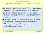 signatures theories structures models