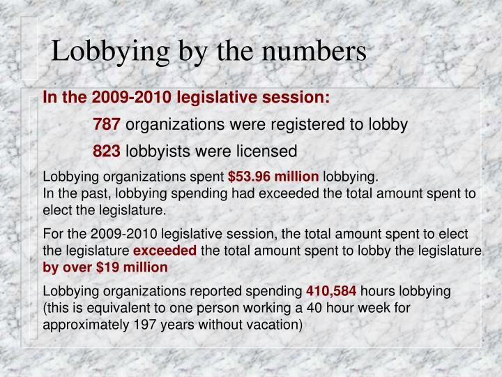 Lobbying by the numbers