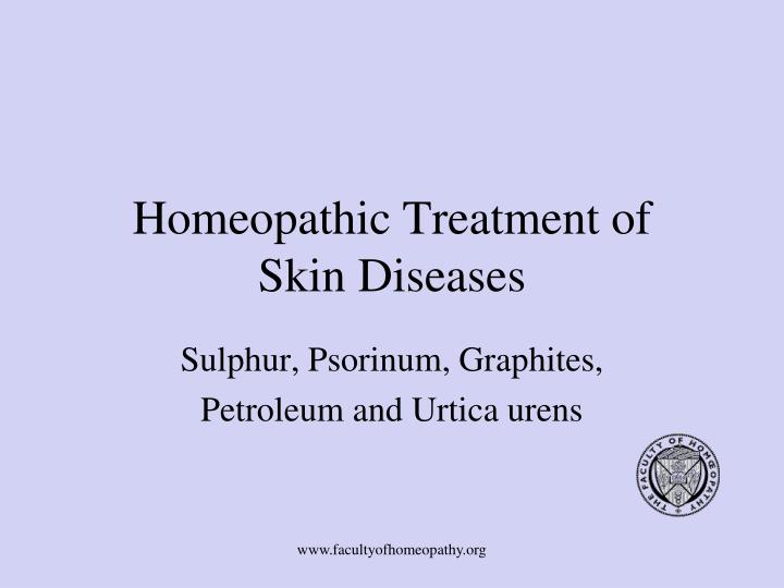 PPT - Homeopathic Treatment of Skin Diseases PowerPoint