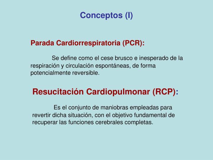 Conceptos (I)