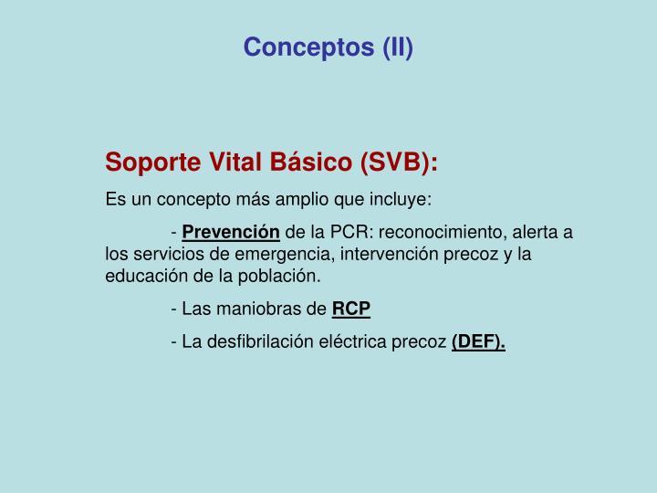 Conceptos (II)